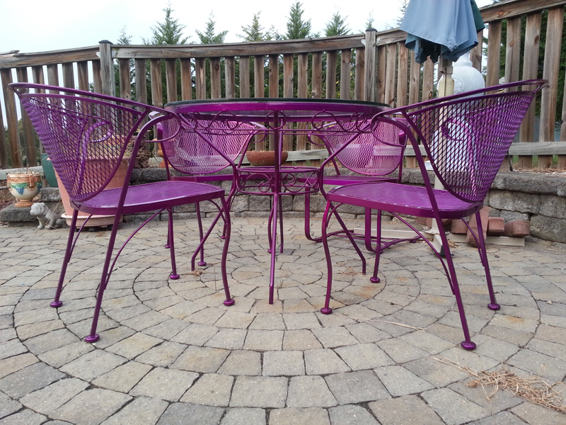 Repainting Powder Coated Aluminum Patio Furniture Thousands Of Ideas About Painted Patio