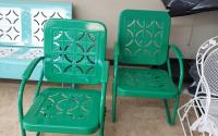 Powder Coating Vintage Metal Chairs