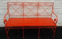 Powder Coated Vintage Metal Bench