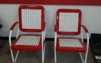 Powder Coated Vintage Metal Chairs