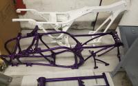 Motocycle Frame Powder Coating