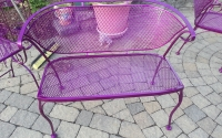 Powder Coated Metal Patio Furniture, Bench Seat